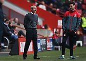 24th March 2018, The Valley, London, England;  English Football League One, Charlton Athletic versus Plymouth Argyle; Charlton caretaker manager Lee Bowyer smiling  from the touchline alongside Johnnie Jackson of Charlton Athletic during the 2nd half