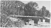 Side view of RGS Bridge 89-A over Dolores River south of Stoner.  It is referred to as the bridge at Raymond.<br /> RGS  Stoner, CO  5/26/1941