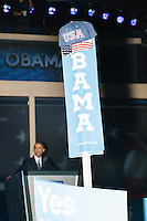 President Barack Obama speaks at the Democratic National Convention at the Wells Fargo Center in Philadelphia, Pennsylvania, on Wed., July 27, 2016.