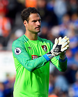 Asmir Begovic of AFC Bournemouth applauds the home fans at the final whistle  during AFC Bournemouth vs Leicester City, Premier League Football at the Vitality Stadium on 15th September 2018