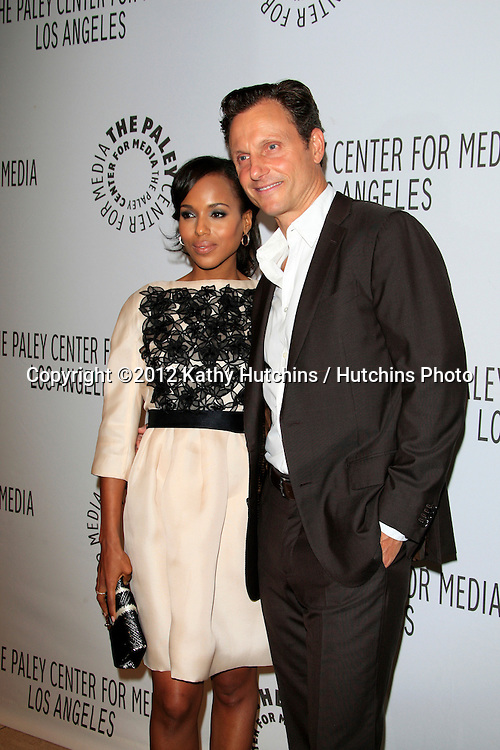LOS ANGELES - SEP 11:  Kerry Washington, Tony Goldwyn arrives at the ABC Fall TV Preview at Paley Center for Media on September 11, 2012 in Beverly Hills, CA