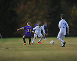 Jackson Newman at Lobos Rush Azul vs. Soccer ole U9 Yellow at the Mike Rose Soccer Complex in Memphis, Tenn. on Sunday, November 17, 2013.