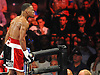 Daniel Jacobs of Brooklyn reacts after defeating opponent Sergio Mora by TKO in the second round of a Premier Boxing Champions match at the Barclays Center on Saturday, August 1, 2015. <br /> <br /> James Escher