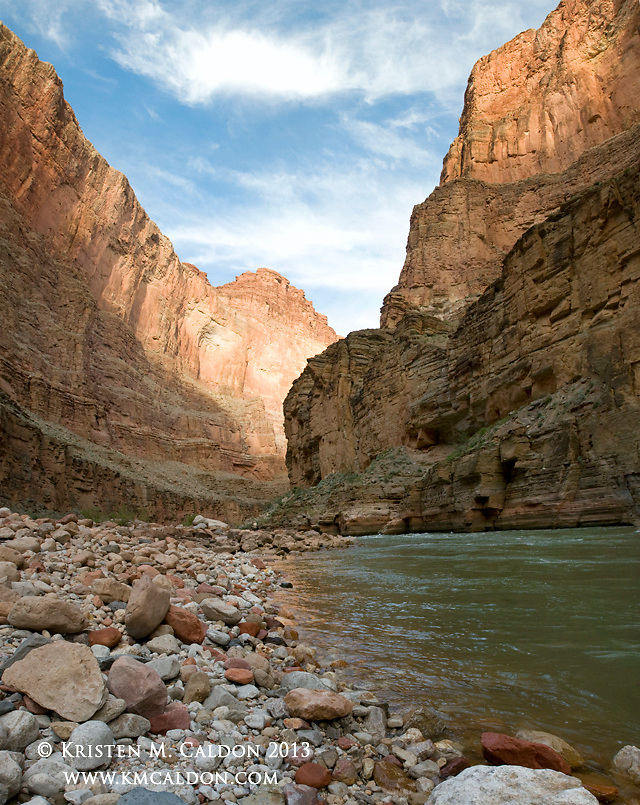 Although remote, this lovely beach in the Muave Gorge is accessible by river trip or hiking down Tuckup Canyon.