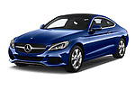 2017 Mercedes Benz C-Class C300 2 Door Coupe Angular Front stock photos of front three quarter view