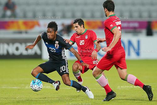 Ado Onaiwu (JPN), <br /> JANUARY 22, 2016 - Football / Soccer : <br /> AFC U23 Championship Qatar 2016 <br /> Quarter-final match between <br /> Japan 3-0 Iran <br /> at Abdullah Bin Khalifa Stadium in Doha, Qatar. <br /> (Photo by Yohei Osada/AFLO SPORT)