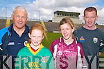 SKILLS: At the Kerry primary schools skills finals at Austin Stacks Park in Tralee last Thursday were l-r: Maurice Leahy (Kerry Games Promotion Officer), Louise Flaherty, Anne Marie Leane, John Bergin (South Kerry Hurling Officer).   Copyright Kerry's Eye 2008