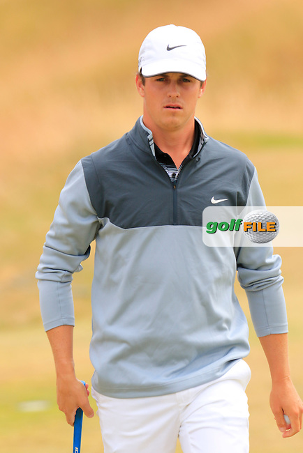 Cody Gribble (USA) on the 15th green during Thursday's Round 1 of the 2015 U.S. Open 115th National Championship held at Chambers Bay, Seattle, Washington, USA. 6/18/2015.<br /> Picture: Golffile | Eoin Clarke<br /> <br /> <br /> <br /> <br /> All photo usage must carry mandatory copyright credit (&copy; Golffile | Eoin Clarke)