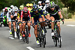 The breakaway group with Edvald Boasson Hagen (NOR) Dimension Data on the front in action during Stage 19 of the 104th edition of the our de France 2017, running 222.5km from Embrun to Salon-de-Provence, France. 21st July 2017.<br /> Picture: ASO/Alex Broadway | Cyclefile<br /> <br /> <br /> All photos usage must carry mandatory copyright credit (&copy; Cyclefile | ASO/Alex Broadway)