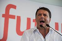 """Bologna 7 Settembre 2014, giorno di chiusura della festa nazionale dell'Unità. Federica Mattero Renzi, chiude la festa. Renzi: """"Non mollo, con il Pd una nuova europa"""