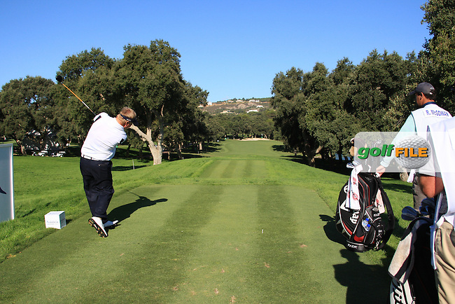 Ross McGowan (ENG) during the 2nd day at the  Andalucía Masters at Club de Golf Valderrama, Sotogrande, Spain. .Picture Fran Caffrey www.golffile.ie
