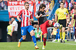 Gabriel Fernandez Arenas, Gabi, (L)  of Atletico de Madrid fights for the ball with Benat Etxebarria Urkiaga (R) of Athletic Club  during their La Liga match between Atletico de Madrid vs Athletic de Bilbao at the Estadio Vicente Calderon on 21 May 2017 in Madrid, Spain. Photo by Diego Gonzalez Souto / Power Sport Images