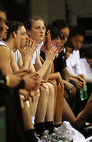 The Tall Ferns bench watch as the visitors rack up the points during the International women's basketball match between NZ Tall Ferns and Australian Opals at Te Rauparaha Stadium, Porirua, Wellington, New Zealand on Monday 31 August 2009. Photo: Dave Lintott / lintottphoto.co.nz