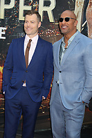 Director Rawson Marschell Thurber with Dwayne Johnson Skyscraper premiere<br /> 7-10- 2018<br /> Photo By John Barrett/PHOTOlink.net