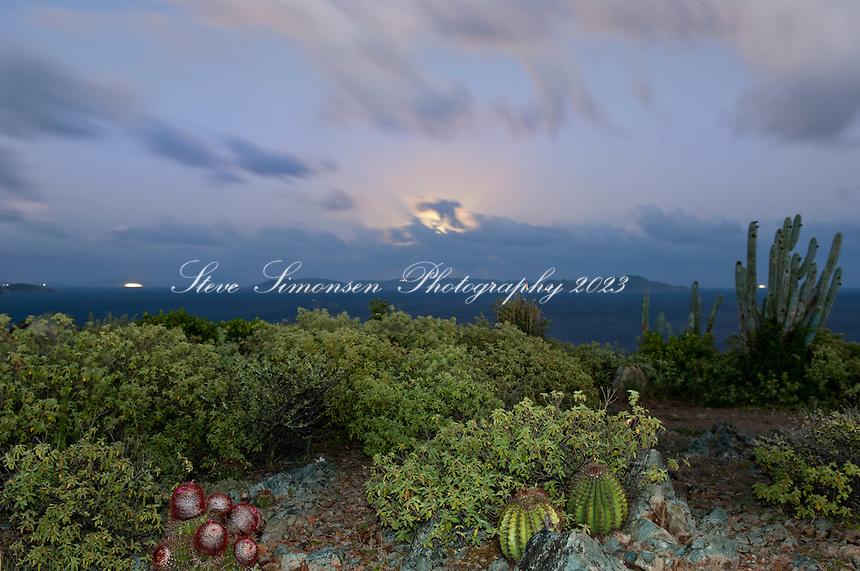 Full moon hike<br /> Ram Head Trail past Salt Pond Bay<br /> St. John<br /> U.S. Virgin Islands