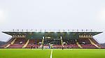 S&ouml;dert&auml;lje 2014-11-09 Fotboll Kval till Superettan Assyriska FF - &Ouml;rgryte IS :  <br /> Vy &ouml;ver S&ouml;dert&auml;lje Fotbollsarena mot huvudl&auml;ktaren med publik och tomma stolar under lineup inf&ouml;r matchen mellan Assyriska FF och &Ouml;rgryte IS <br /> (Foto: Kenta J&ouml;nsson) Nyckelord:  S&ouml;dert&auml;lje Fotbollsarena Kval Superettan Assyriska AFF &Ouml;rgryte &Ouml;IS utomhus exteri&ouml;r exterior supporter fans publik supporters