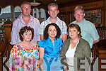Marie Brosnan, front centre from Templeglantine, celebrated her 40th birthday with friends in Leen's Hotel Abbeyfeale on Saturday night.  Pictured front l-r Caroline O'Brien, Marie Brosnan (birthday girl), Sheila Buckley.  Back l-r Tom Roche, Pat Brosnan and Gerard Buckley..   Copyright Kerry's Eye 2008
