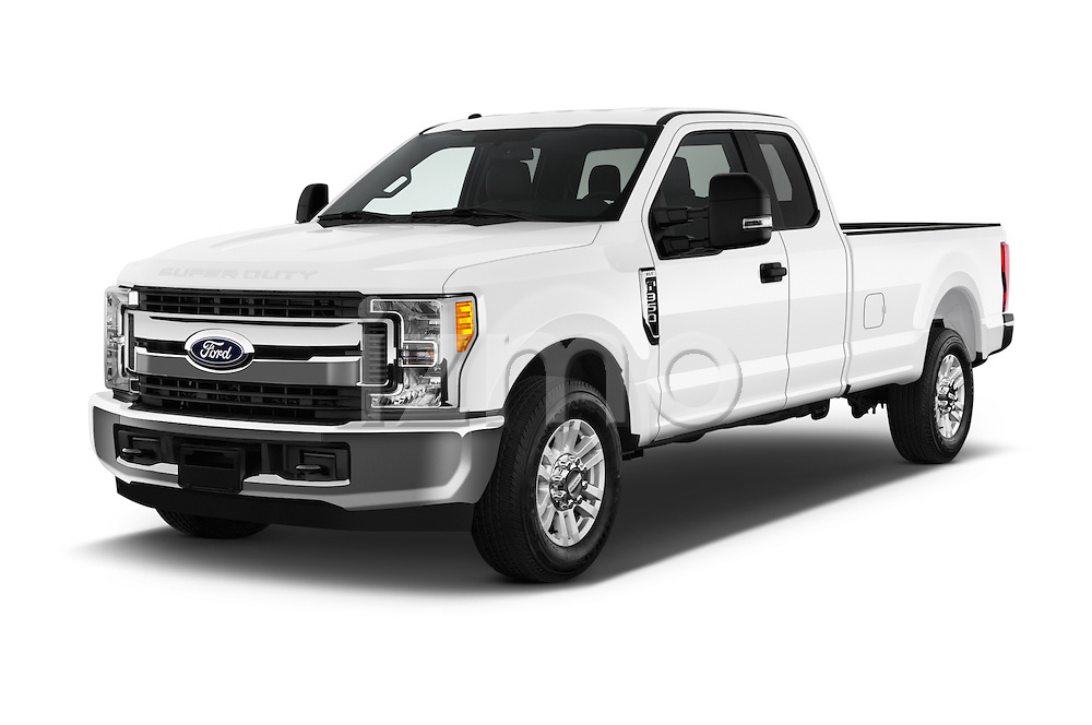 2017 Ford F-350 XLT-Super 4 Door Pick-up Angular Front stock photos of front three quarter view