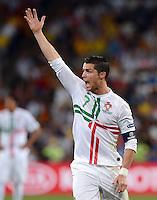 FUSSBALL  EUROPAMEISTERSCHAFT 2012   HALBFINALE Portugal - Spanien                  27.06.2012 Pedro Rodriguez (Spanien) emotional