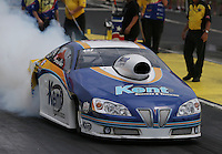 May 10, 2013; Commerce, GA, USA: NHRA pro stock driver Steve Kent during qualifying for the Southern Nationals at Atlanta Dragway. Mandatory Credit: Mark J. Rebilas-