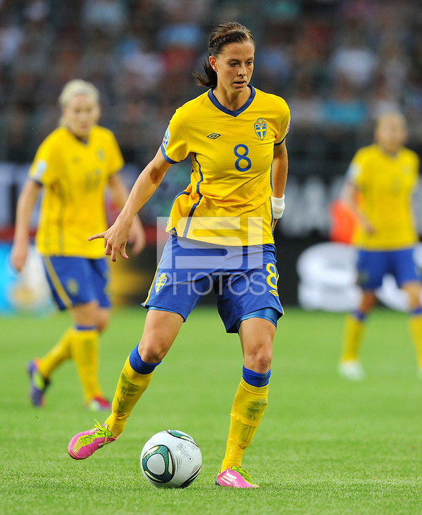 Lotta Schelin of team Sweden during the FIFA Women's World Cup at the FIFA Stadium in Wolfsburg, Germany on July 6thd, 2011.