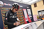 Egan Bernal (COL) Team Ineos at sign on before the start of the world's oldest classic the 100th edition of Milano-Torino running 179km from Magenta to the Basilica at Superga in Turin, Italy. 9th Octobre 2019. <br /> Picture: Marco Alpozzi/LaPresse | Cyclefile<br /> <br /> All photos usage must carry mandatory copyright credit (© Cyclefile | LaPresse/Marco Alpozzi)