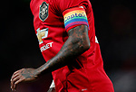Manchester United's Ashley Young displays a rainbow coloured captain's armband during the Premier League match at Old Trafford, Manchester. Picture date: 4th December 2019. Picture credit should read: Darren Staples/Sportimage