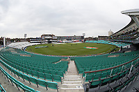 A general view of the Oval before the official arm up fixture between India vs New Zealand, ICC World Cup Warm-Up Match Cricket at the Kia Oval on 25th May 2019