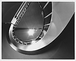 Spiral staircase in downtown Grand Rapids, Michigan.  Photographed in 1992.