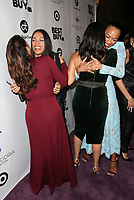 LOS ANGELES, CA - NOVEMBER 8: Eva Longoria, Zoe Saldana, Gina Rodriguez, Rosario Dawson, at the Eva Longoria Foundation Dinner Gala honoring Zoe Saldana and Gina Rodriguez at The Four Seasons Beverly Hills in Los Angeles, California on November 8, 2018. Credit: Faye Sadou/MediaPunch