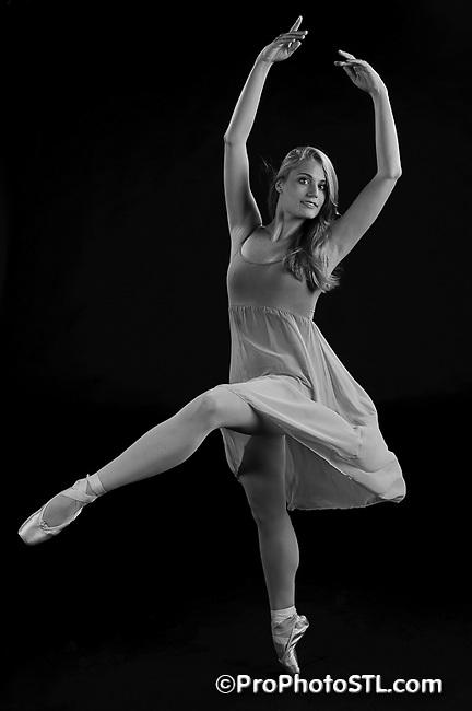 Missouri Ballet Theatre studio shots in B&W