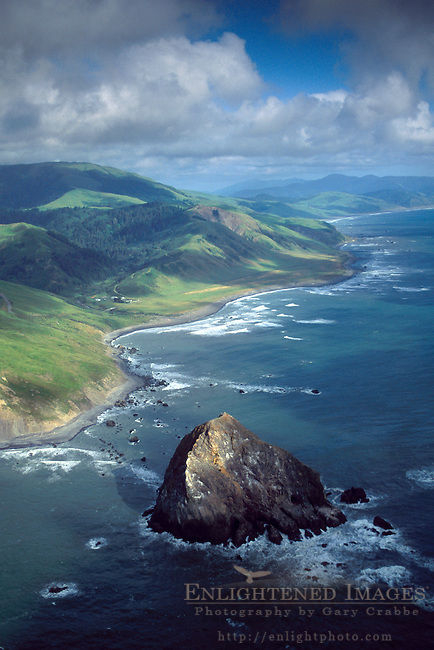 Aerial over Cape Mendocino, Humboldt County, CALIFORNIA