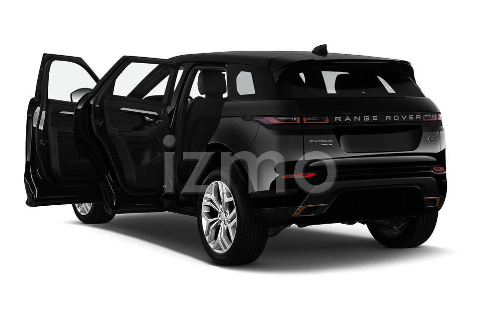 Car images close up view of a 2020 Land Rover Range Rover Evoque First Edition 5 Door SUV doors