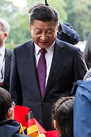 Xi Jinping beim Empfang des Staatspräsidenten der Volksrepublik China Jinping im Schloss Bellevue. Berlin, 05.07.2017