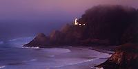 Haceta Head Lighthouse at dusk, Oregon