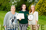 Student of the Year Tiffany O'Brien with family Bernadette O'Brien,  and Sandra O'Brien at the at Colaiste Gleann li Post Primary School (Tralee Community College) awards on Tuesday