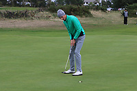 Tiernan McLarnon from Ireland makes his putt on the 17th green to win his match during Round 2 Singles of the Men's Home Internationals 2018 at Conwy Golf Club, Conwy, Wales on Thursday 13th September 2018.<br /> Picture: Thos Caffrey / Golffile<br /> <br /> All photo usage must carry mandatory copyright credit (&copy; Golffile | Thos Caffrey)