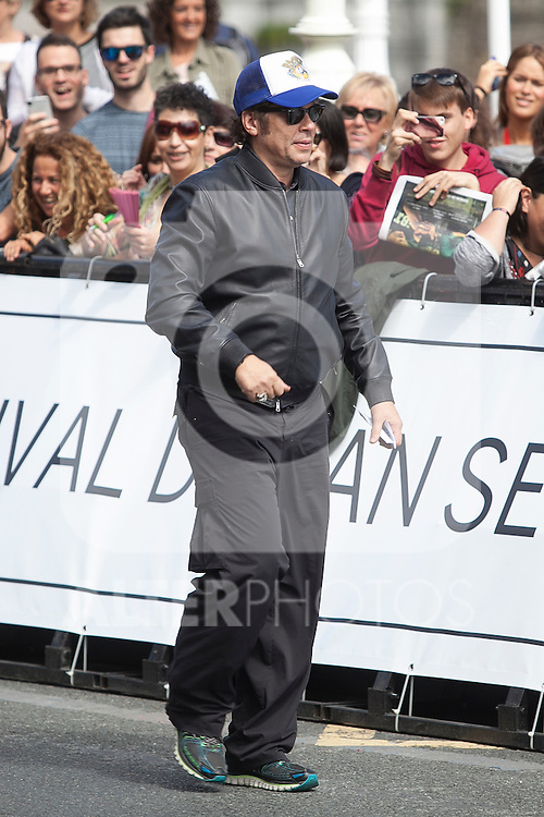 Puerto Rican actor Benicio del Toro arrives  at 63rd Donostia Zinemaldia (San Sebastian International Film Festival) in San Sebastian, Spain. September 18, 2015. (ALTERPHOTOS/Victor Blanco)