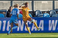 San Jose, CA - December 2, 2016: The NCAA Women's Soccer Championships Semifinals; The West Virginia Mountaineers vs the North Carolina Tar Heels at Avaya Stadium. Final score, West Virginia 1, North Carolina 0.