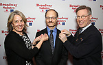Laura Penn, David Hyde Pierce and Ira Mont attends The Broadway League and the Coalition of Broadway Unions and Guilds (COBUG) presents the 9th Annual Broadway Salutes at Sardi's on November , 2017 in New York City.