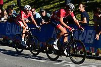 Picture by Alex Broadway/SWpix.com - 30/09/2018 - Cycling 2018 Road Cycling World Championships Innsbruck-Tirol, Austria - Men's Elite Road Race - Kasper Asgreen or Denmark and Vegard Stake Laegen of Norway.