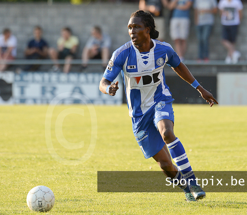 20140626 - LAUWE, BELGIUM : Gent Mahamadou Habib Habibou pictured during  a friendly match between FC Gullegem and Belgian first division soccer team KAA Gent, the second match for KAA Gent of the preparations for the 2014-2015 season, Tuesday 24 June 2014 in Lauwe. PHOTO DAVID CATRY