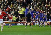 Barnsley v Leeds..EFL Championship 21.1.17 .... Barnsleys Connor Hourihane scores his sides third goal