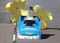 Feb 28, 2016; Chandler, AZ, USA; NHRA funny car driver John Force during the Carquest Nationals at Wild Horse Pass Motorsports Park. Mandatory Credit: Mark J. Rebilas-USA TODAY Sports