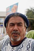 Melonenverk&auml;ufer in Buchara, Usbekistan, Asien<br /> me&ouml;on vendor, Bukhara, Uzbekistan, Asia