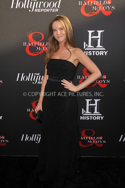 WWW.ACEPIXS.COM . . . . .  ....May 21 2012, LA....Katie Griffiths at a special screening of 'Hatfields & McCoys' hosted by The History Channel at Milk Studios on May 21, 2012 in Hollywood, California. ....Please byline: PETER WEST - ACE PICTURES.... *** ***..Ace Pictures, Inc:  ..Philip Vaughan (212) 243-8787 or (646) 769 0430..e-mail: info@acepixs.com..web: http://www.acepixs.com