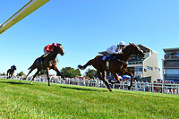 Winner of The Whitsbury Manor Stud Bibury Cup Handicap Infrastructure (6) ridden by Callum Shepherd and trained by Martin Meade  during Whitsbury Manor Stud Bibury Cup Day Racing at Salisbury Racecourse on 27th June 2018