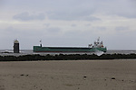 MV Arklow Valour hard aground at the mouth of the River Boyne at Baltray, Co. Louth on Friday 14th December 2018.<br /> Picture:  Thos Caffrey / www.newsfile.ie