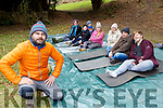 Gary Kelliher giving a Mindfulness and meditation class at the reconecting to our roots on Saturday morning with l-r: Sarah O'Brien, Jerimiah Sheehan, Peader Sheehan, Bridget Sheehan, Aileen, Andrew and Max Rice