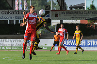 20190626 - OUDENAARDE , BELGIUM : Mouscron's (2) Noë Georges Dussenne pictured during a friendly game between KSV Oudenaarde and Royal Excelsior Mouscron Moeskroen during the preparations for the 2019-2020 season , Wednesday 26 June 2019 ,  PHOTO STIJN AUDOOREN | SPORTPIX.BE